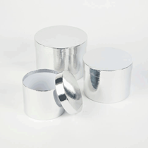 Metallic Silver Round Lined Hat Boxes - Set of 3