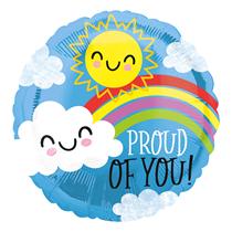 """Proud Of Your Sun Rainbow 18"""" Foil Balloon"""
