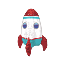Rocket Ship Air Fill Foil Multi-Balloon