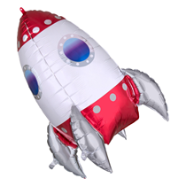 "Rocket Ship 29"" Foil SuperShape Balloon"
