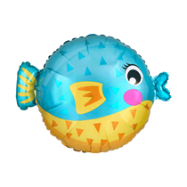 "Cute Puffer Fish Standard 19"" Foil Balloon"