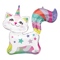 "Caticorn 31"" Foil SuperShape Balloon"