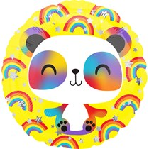 "Happy Panda Rainbow 18"" Foil Balloon"