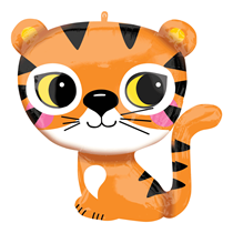 "Cute Sitting Tiger 25"" Foil SuperShape Balloon"