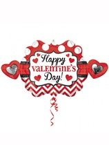 "Valentine's Heart Marquee 39"" Supershape Foil Balloon"