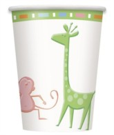 Cute Animals Baby Shower 9oz Cups 8pk