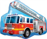 "Fire Engine 36"" Giant SuperShape Foil Balloon"