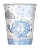 8 Umbrellaphants Blue 9oz Paper Cups