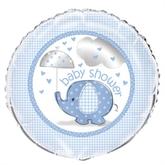 """Umbrellaphants Blue 18"""" Foil Balloon"""