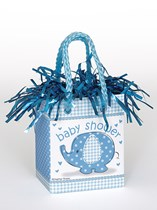 Blue Umbrellaphants Baby Shower Mini Gift Bag Balloon Weight