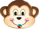 """Mischievous Monkey Air Fill Foil Balloon 14"""""""