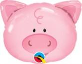 """Playful Pig Foil Balloon 14"""""""