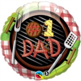 "#1 Dad Grill 18"" Foil Balloon"