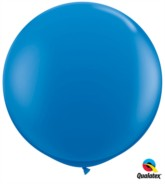 Dark Blue Round 3ft Latex Balloons 2pk