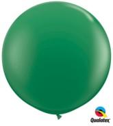 Green Round 3ft Latex Balloons 2pk