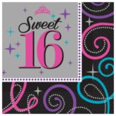 Sweet Sixteen Luncheon Napkins 16pk