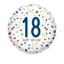 "18th Birthday Confetti 18"" Foil Balloon"