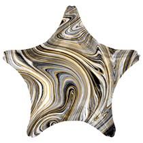 "Marblez Black Star 18"" Foil Balloon"