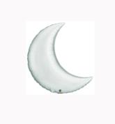 "Silver 9"" Crescent Moon Foil Balloon - Air Fill"