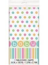 Baby Shower Polka Dot Plastic Tablecover
