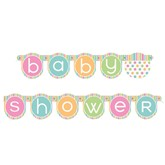 Baby Shower Polka Dot Letter Banner