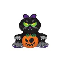 "Halloween Black Cat 12"" Mini Shape Foil Balloon"