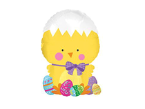 """Easter Yellow Chick 10"""" Mini Air Fill Foil Balloon"""