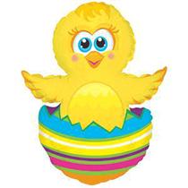 "Little Easter Chick In Egg 12"" Air Fill Foil Balloon"