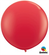 Red Round 3ft Latex Balloons 2pk