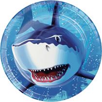Shark Splash Party Plates 8pk