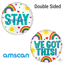 "Stay Positive Double Sided 18"" Foil Balloon"