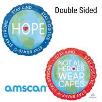 "Hope Heroes Double Sided 18"" Foil Balloon"