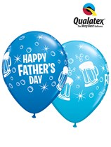 Happy Father's Day Beer Mug Latex Balloons 25pk