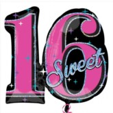 Sweet Sixteen Foil Balloon 28""