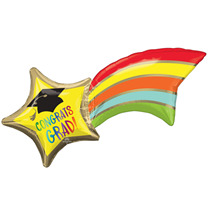 "Graduation Shooting Star 27"" Foil Balloon"