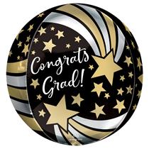 Graduation Shooting Stars Orbz Foil Balloon