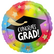"""Congrats Grad Colourful 18"""" Foil Balloon"""