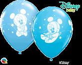 """Disney Mickey Mouse Baby Stars 11"""" Latex Balloons 25pk"""