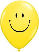 """Smiley Face 11"""" Latex Balloons 6pk"""