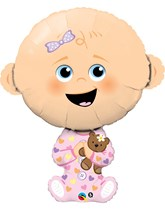 "Baby Girl 38"" Supershape Foil Balloon"