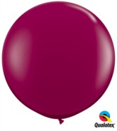 Sparkling Burgundy Round 3ft Latex Balloons 2pk
