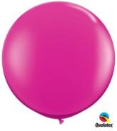 Jewel Magenta Round 3ft Latex Balloons 2pk