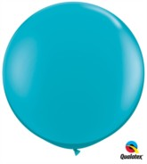 Tropical Teal Round 3ft Latex Balloons 2pk
