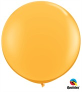 Goldenrod Round 3ft Latex Balloons 2pk