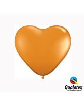 "6"" Mandarin Orange Latex Heart Balloons 100pk"