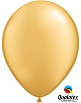 "11"" Metallic Gold Latex Balloons 100pk"