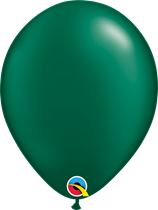 Pearl forest green latex balloons qualatex