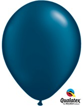 "11"" Pearl Midnight Blue Latex Balloons 100pk"