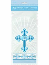 Blue Radiant Cross Cello Bags 20pk