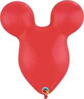 """Mickey Mouse Head Shaped Red 15"""" Latex Balloons 50pk"""